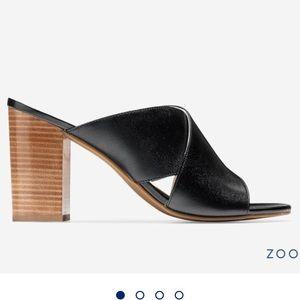 New Cole Haan Trista Block Heel Sandals Mules 7.5